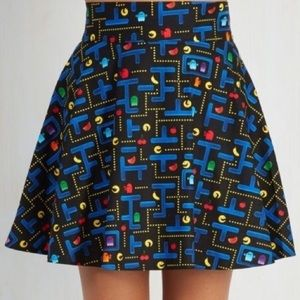 🕹😀Pac-Man Arcade Plus size Skater Skirt